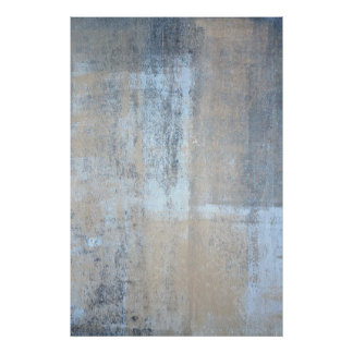 'That's Simple' Grey and Beige Abstract Art Poster