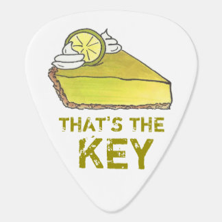 That's the KEY Lime Pie Slice Florida Foodie Gift Plectrum