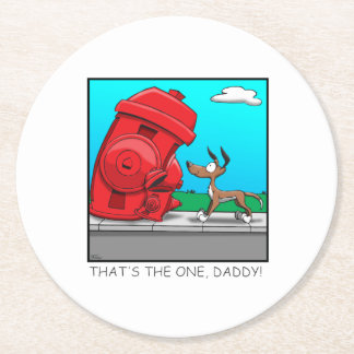 That's the one, Daddy! Round Paper Coaster
