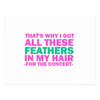 That's Why I Got All These Feathers In My Hair Postcard