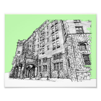 Thayer Hotel lime green Photograph