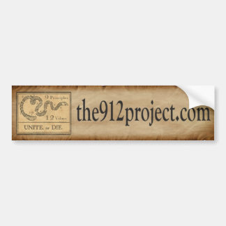 the912project.com Bumper Sticker unite or die full