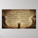 the 10 commandments wall poster