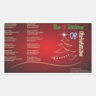 The 12 Haikus Of Christmas Sticker Sheet