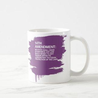 THE 14TH AMENDMENT BASIC WHITE MUG