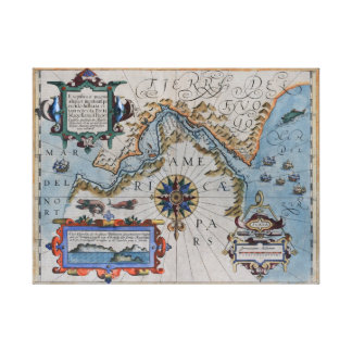 The 16th Century Ortelius Chart Gallery Wrap Canvas