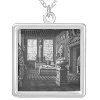 The 16th century room, Musee des Monuments Silver Plated Necklace