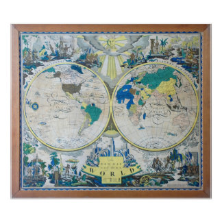 The 1926 New Map of the World Poster