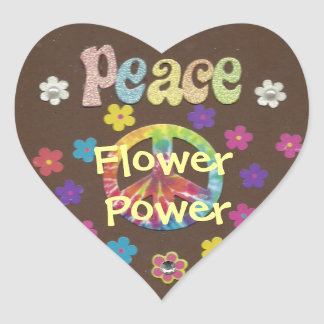 The 1960s: Flower Power sticker