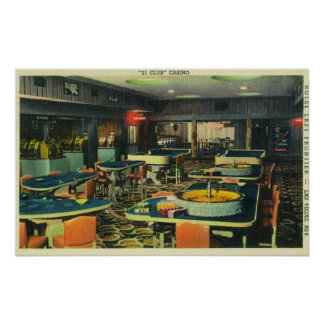 The 21 Club Casino, Hotel Last Frontier Poster