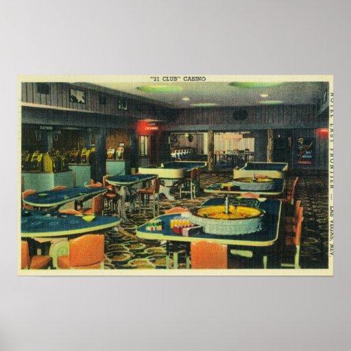 The 21 Club Casino, Hotel Last Frontier Print