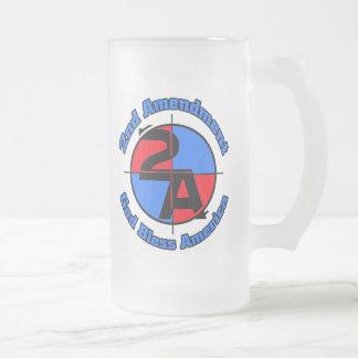 The 2nd Amendment Frosted Glass Mug