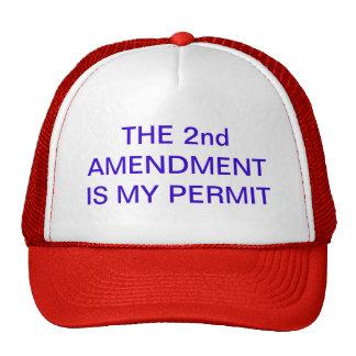 THE 2nd AMENDMENT IS MY PERMIT baseball cap Hats