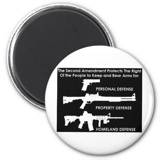 The 2nd Amendment Protects... Refrigerator Magnet