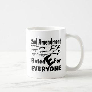 The 2nd Amendment Rated E For Everyone Coffee Mug