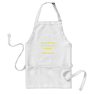 The 2nd Wedding Anniversary Gift is Cotton This Standard Apron