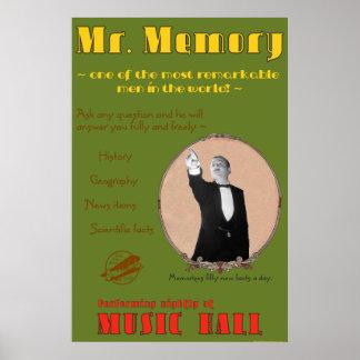 The 39 Steps: Mr. Memory Advertising Poster