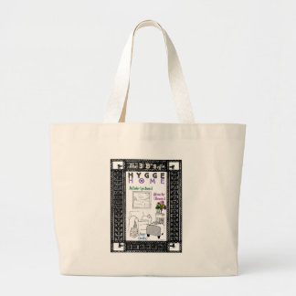 The 3 B's of a Hygge Home Large Tote Bag