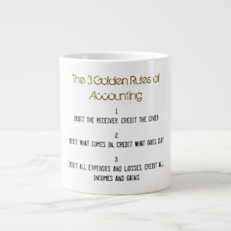 """""""The 3 Golden Rules of Accounting"""" Large Coffee Mug"""