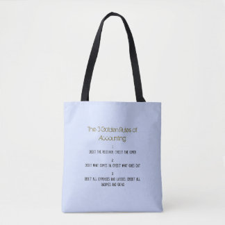 """The 3 Golden Rules of Accounting"" Tote Bag"