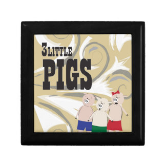 The 3 Little Pigs Small Square Gift Box