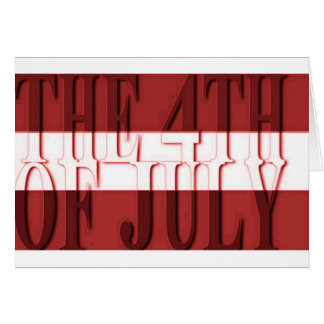 the 4th july greeting card