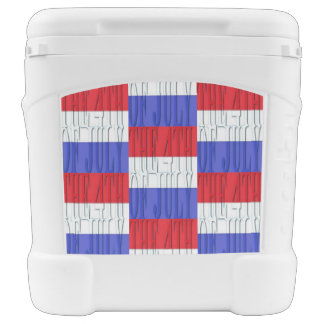 the 4th of july Igloo 60 quart Roller Cooler