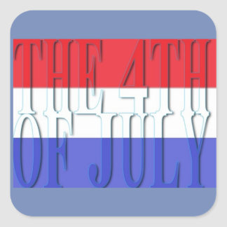 The 4th of July  Round Sticker