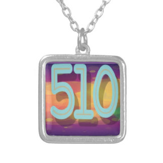 The 510 TV Silver Plated Necklace