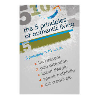 The 5 Principles of Authentic Living - Poster