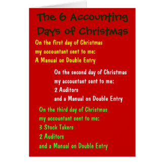 The 6 Accounting Days of Christmas Card