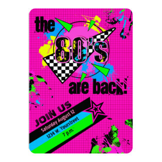 The 80's are Back, Eighties Party Card