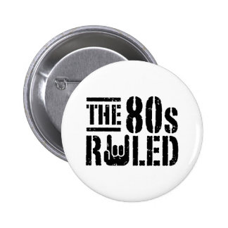 The 80s Ruled 6 Cm Round Badge