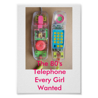 The 80's Telephone Poster