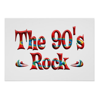 The 90 s Rock Posters