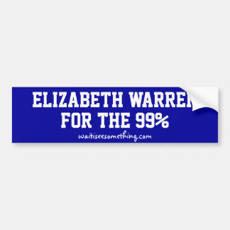 The 99% For Elizabeth Warren Bumper Sticker