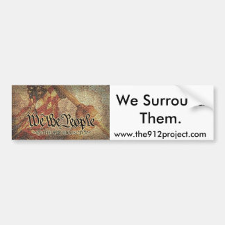 "The 9-12 Project and ""We Surround Them"" Bumper Sticker"