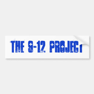 THE 9-12 PROJECT BUMPER STICKER