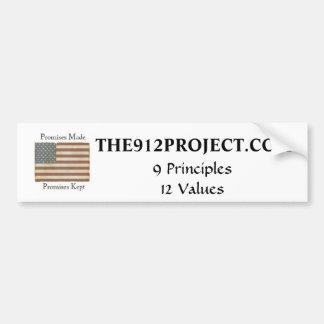 The 9-12 Project Bumper Sticker
