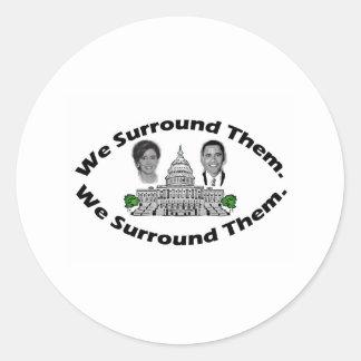 "The 9-12 Project - ""We Surround Them"" Round Sticker"