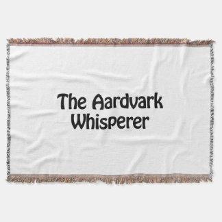 the aardvark whisperer throw blanket