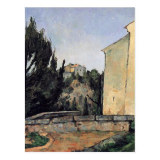The Abandoned House by Paul Cezanne Postcard