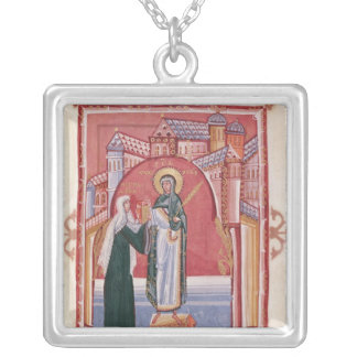 The Abbess Hilda offering Silver Plated Necklace