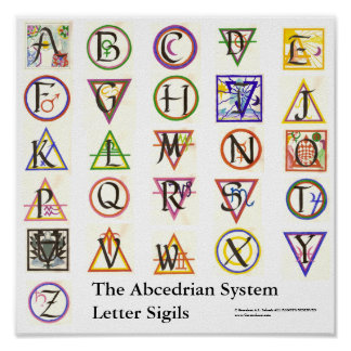 The Abcedrian System Alphabet Poster