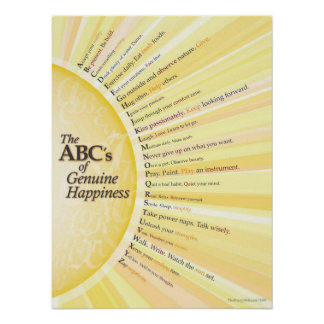 The ABC's of Genuine Happiness Poster
