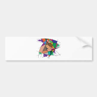 The Abstract Woman by Stanley Mathis Bumper Sticker