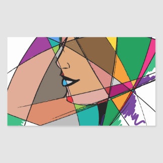 The Abstract Woman by Stanley Mathis Rectangular Sticker