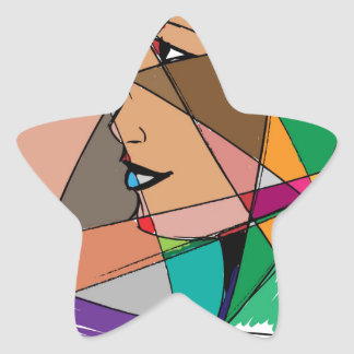 The Abstract Woman by Stanley Mathis Star Sticker