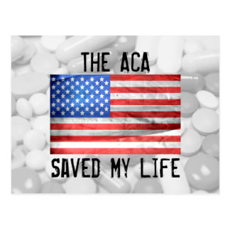 The ACA Saved My Life Postcard