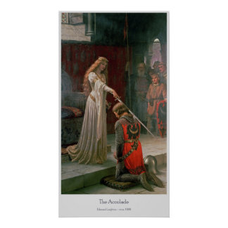 The Accolade by Edmund Leighton Poster